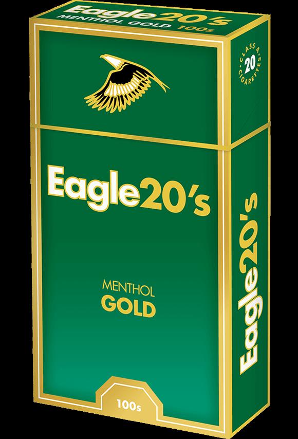 eagle 20's 100s menthol gold