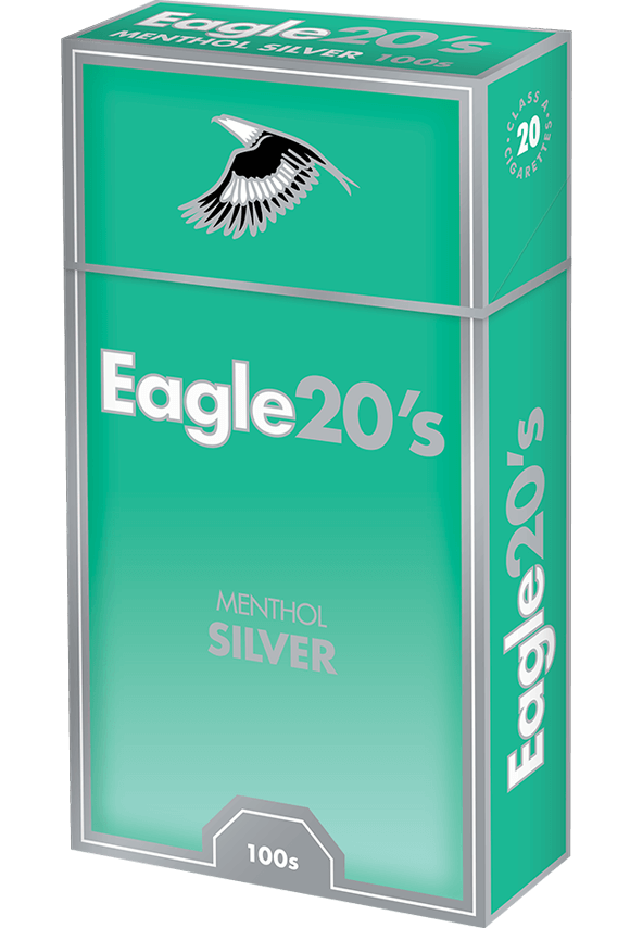 eagle 20's 100s menthol silver