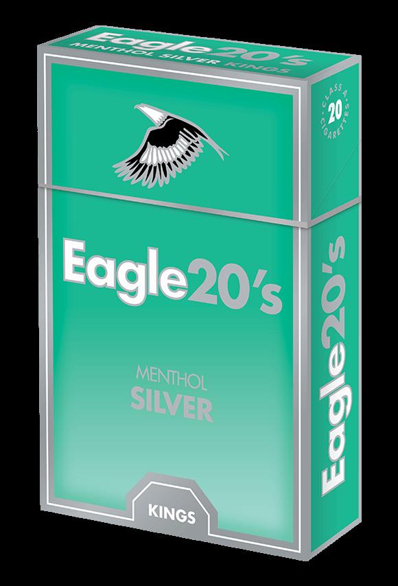 eagle 20's kings menthol silver