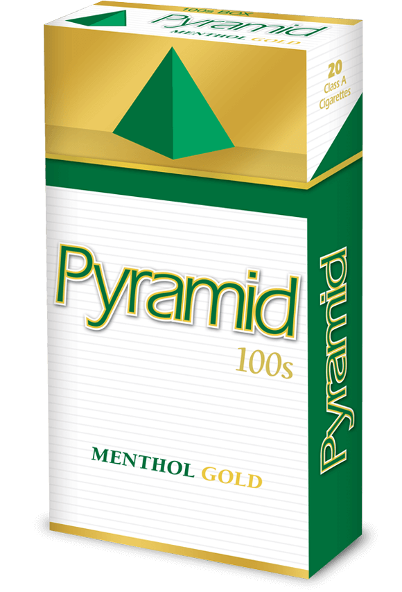 pyramid 100s menthol gold