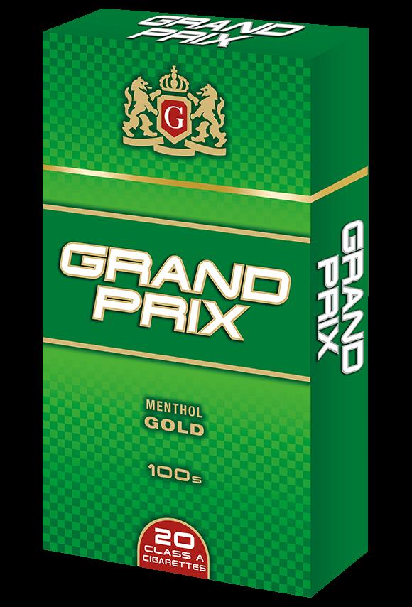 Grand Prix 100s Menthol Gold